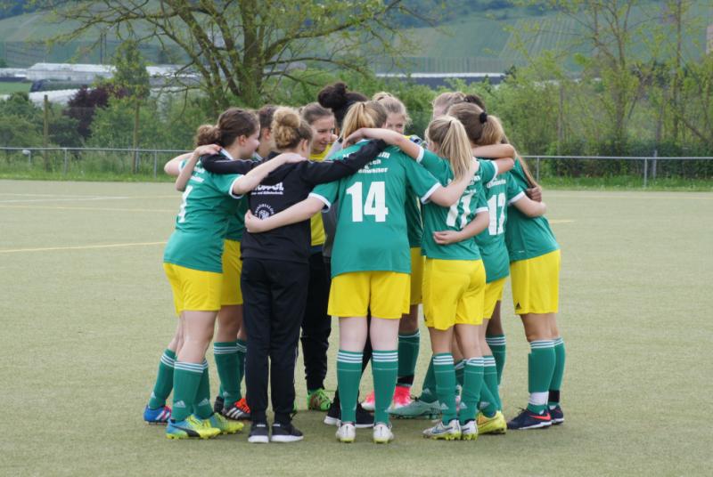 Unsere Mädels: Motiviert und kampfbereit, wie schon die ganze Saison über