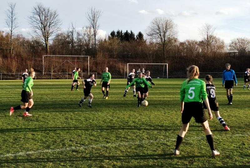 Vor allem die Juniorteam-Defensive um Heidi machte in Horrheim ein starkes Spiel
